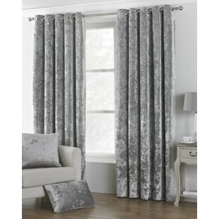 gray velvet curtains gunmetal reiban eyelet room darkening curtains set of 2 grey velvet wayfaircouk