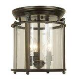 Jamar 3 - Light 11'' Lantern Cylinder Flush Mount
