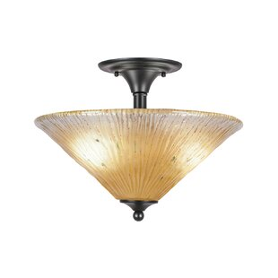 Welch 2-Light Semi Flush Mount by Red Barrel Studio