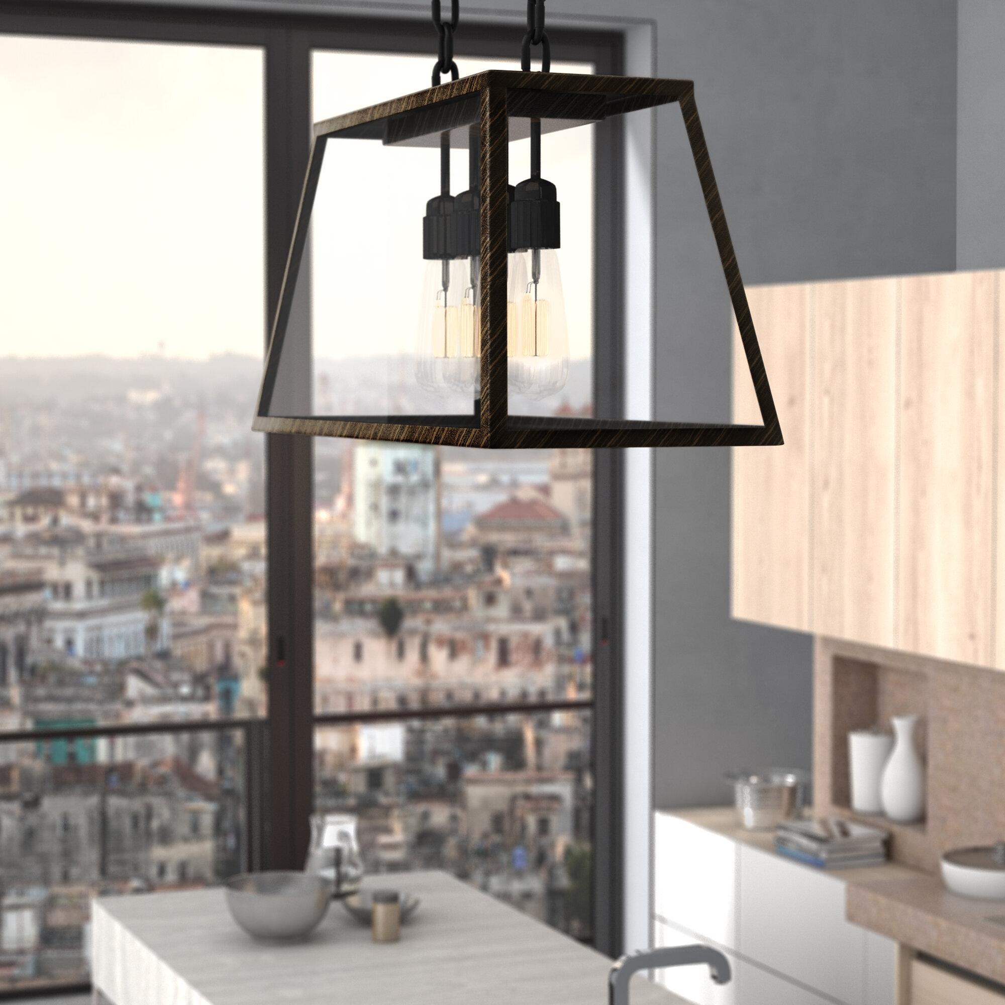Geometric Industrial Kitchen Island Lighting You Ll Love In 2021 Wayfair