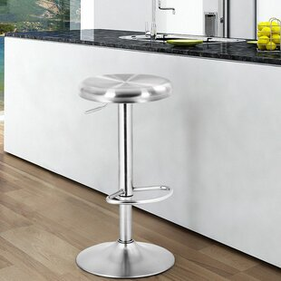 Silvia Adjustable Height Swivel Bar Stool