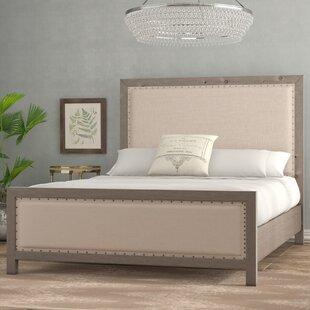 Burgundy Upholstered Panel Bed by Lark Manor