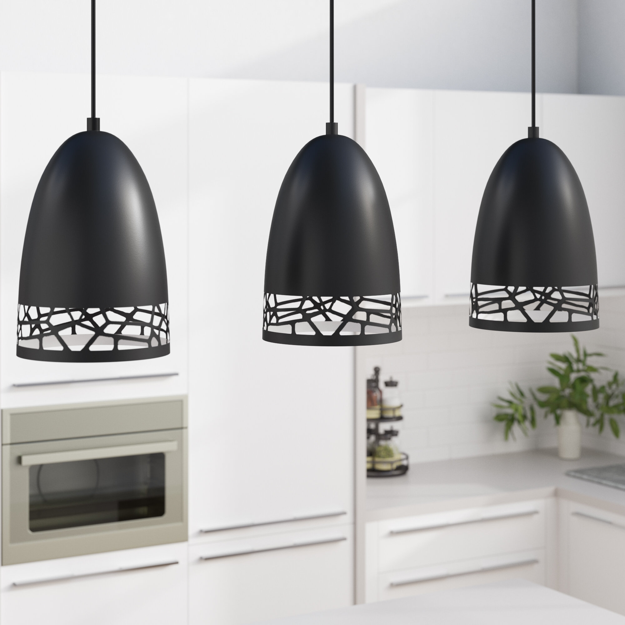 Brayden Studio Hendrix 3 Light Kitchen Island Bell Pendant Wayfair