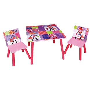 Woodleys Children's 3 Piece Square Table And Chair Set By Zoomie Kids