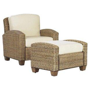 Home Styles Cabana Banana Cotton Armchair with Ottoman