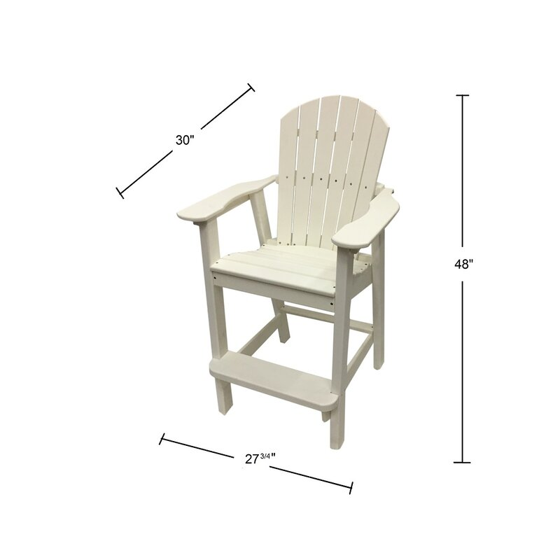 Phat Tommy Plastic Resin Adirondack Chair