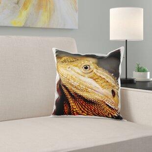 Bearded Dragon, Pogona Vitticeps, Lizard, Reptile Pillow Cover