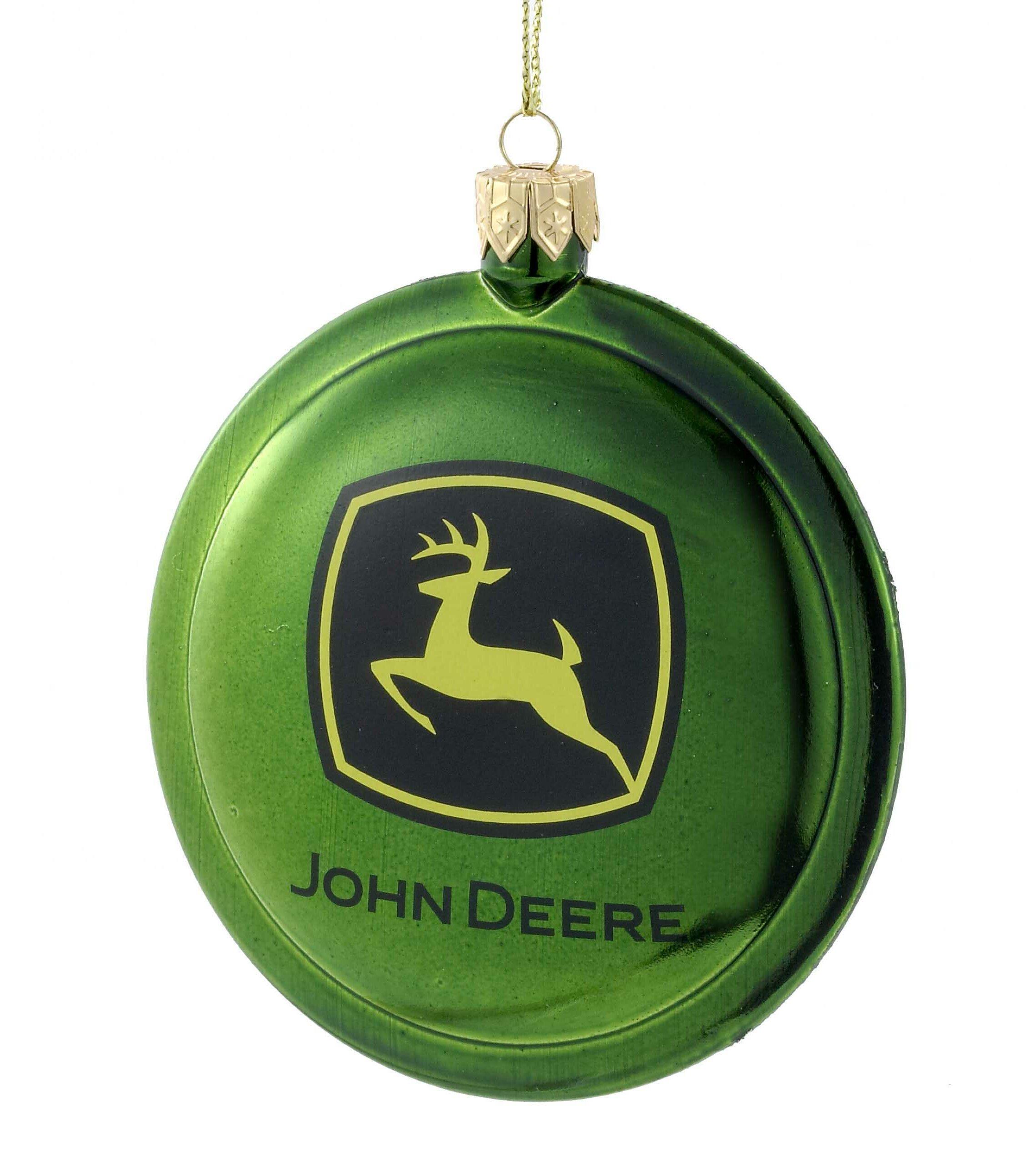 Kurt Adler Shatterproof John Deere Disc Ornament & Reviews   Wayfair