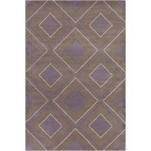 Affordable Oritz Hand Tufted Wool Purple/Yellow Area Rug By Brayden Studio