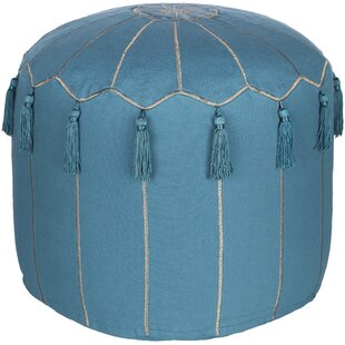 Luverne Global-Inspired Pouf by Bungalow Rose