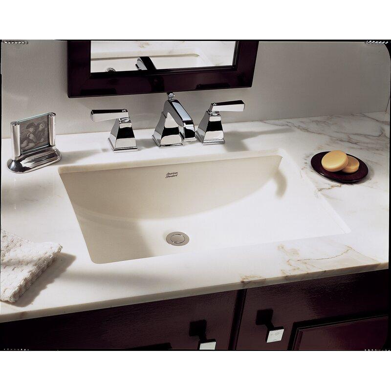 American Standard Studio Ceramic Rectangular Undermount ...
