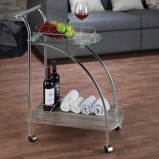 Ebern Designs Feliz Serving Bar Cart