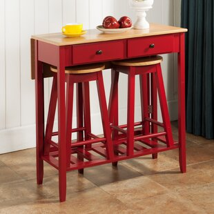 InRoom Designs 3 Piece Pub Table Set