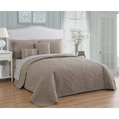 Melbourne 9 Piece Quilt Set Avondale Manor Size: Queen, Color: Taupe