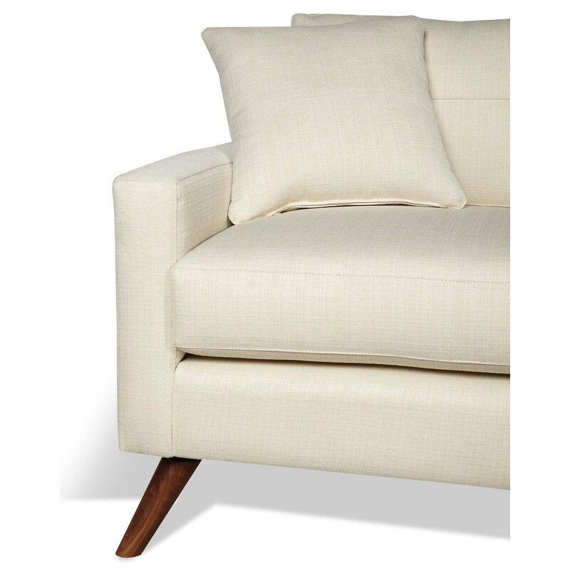 Dane One Arm Sofa With Chaise Allmodern