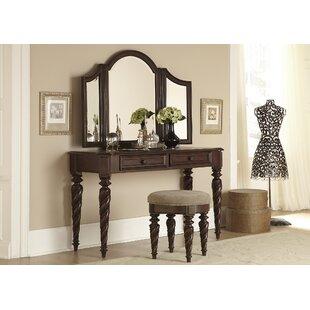 Astoria Grand Kate Vanity Set with Mirror