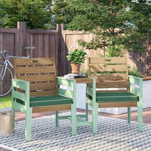 Low Price Osier Wooden Love Seat