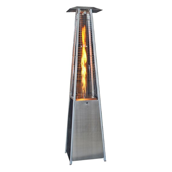 44330 BTU of Heat to Warm Areas Patio Heater with Wheels /& Table Large Overheat Protection Stand-Up Heating Lamp for Garden Party Floor Standing Stainless Steel Portable Outdoor Propane Gas