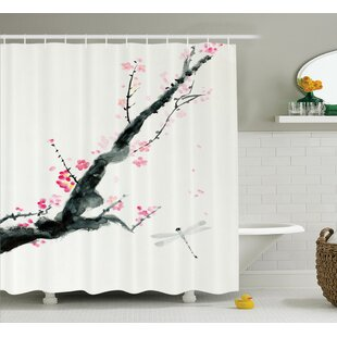 Bellingham Cherry Sakura Tree Single Shower Curtain