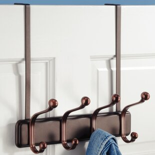 Affordable Duff Over-the-Door 4-Hook Towel Rack By Rebrilliant