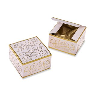 Borehamwood Modern Romance Square Decorative Box Disposable Party Favors (Set of 12)