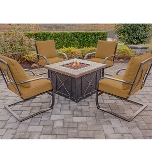 Rhonda 5 Piece Conversation Set with Cushions by Fleur De Lis Living