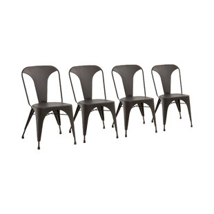 Camile Metal Armless Stacking Chair (Set Of 4) By Williston Forge