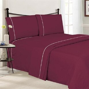 4 Piece Ultra Luxe Wrinkle Free Embossed Pipeline Sheet Set