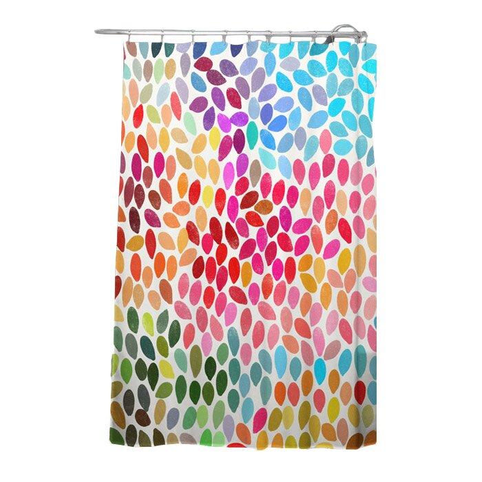 Garima Dhawan Dots Rain Single Shower Curtain