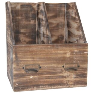 Cheungs 2 Slot Wood Office Organizer