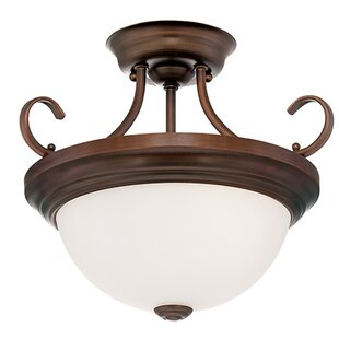 Torquay 2-Light Semi-Flush Mount by Fleur De Lis Living