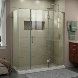 DreamLine Unidoor-X 63 1/2 in. W x 34 3/8 in. D x 72 in. H Frameless Hinged Shower Enclosure