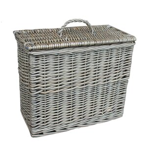 Gentil Toilet Tidy Lidded Wicker Basket