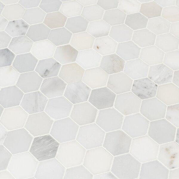 Msi Arabescato Carrara 2 X 2 Marble Mosaic Tile Wayfair