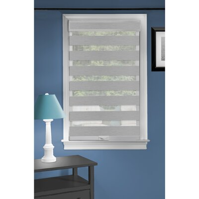Symple Stuff Sheer Roll-Up Shade Blind Size: 23 W x 72 L, Blind Color: Gray