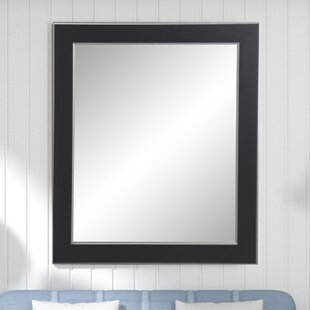 Great Price Black and Silver Designer Accent Wall Mirror By Brandt Works LLC