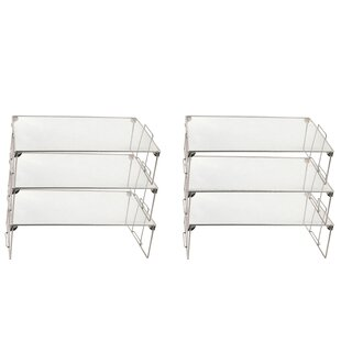 Feldman Stackable Mesh Shelving Rack (Set of 6)
