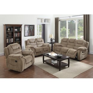Staas Reclining 3 Piece Living Room Set by Red Barrel Studio Discount