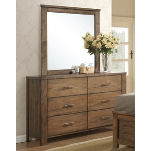 Cayuse 6 Drawer Double Dresser with Mirror