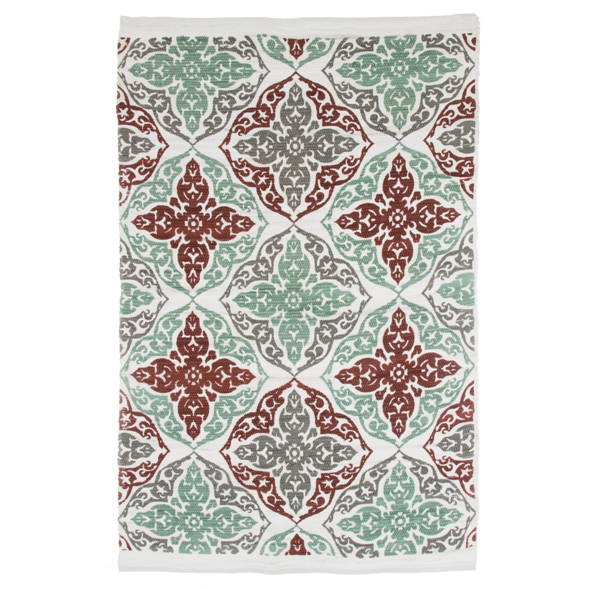 Picture of: Ebern Designs Roche Damask Motif Accent Hand Woven Teal Area Rug Wayfair