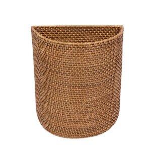 Highland Dunes Cresthaven Hand Woven Waste Basket