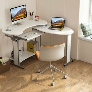 Heatherly Rotating Reversible L-Shaped Computer Desk