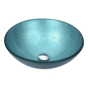 Find a Posh Glass Circular Vessel Bathroom Sink By ANZZI