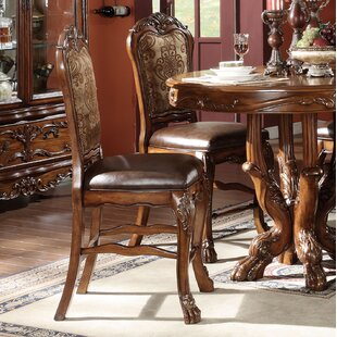 Welliver Traditional Counter Height Upholstered Dining Chair (Set of 2)