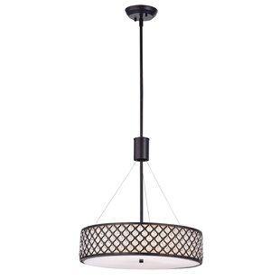 House of Hampton Lavenia Beaded 5-Light Drum Chandelier