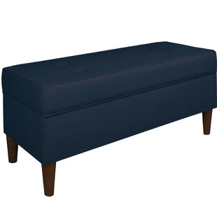 Ramey Tufted Soft Linen Upholstery Storage Bench by Alcott Hill