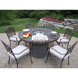 Mcgrady Dining Set with Cooler Insert and Cushions