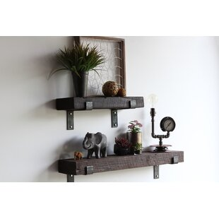 Burley Reclaimed Barn Wood Wall Shelf (Set of 2)