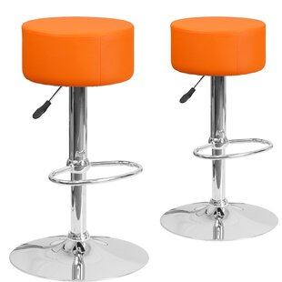 Neary Adjustable Height Swivel Bar Stool (Set of 2)