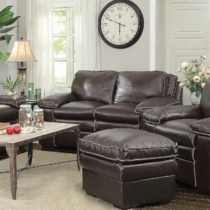 Ripon Leather Loveseat by ..